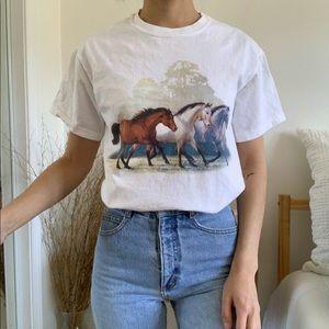 Weirs Wild Wings 3 Horses White Gildan T-Shirt